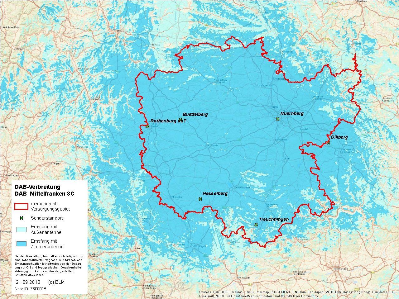 Mittelfranken Karte.Blm Galaxy Ansbach